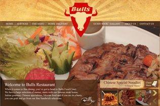 Bulls Restaurant Website