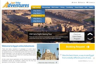 Egypt Online Adventures Website