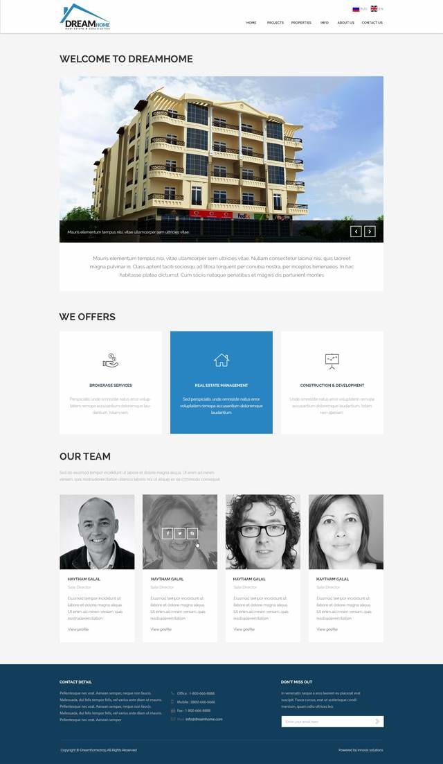 Dream home real estate website innovix solutions for Dream house website