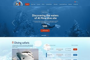 Aquanaut Diving Club Website created by Innovix Solutions