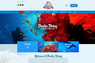 Pirates diving and water sports website