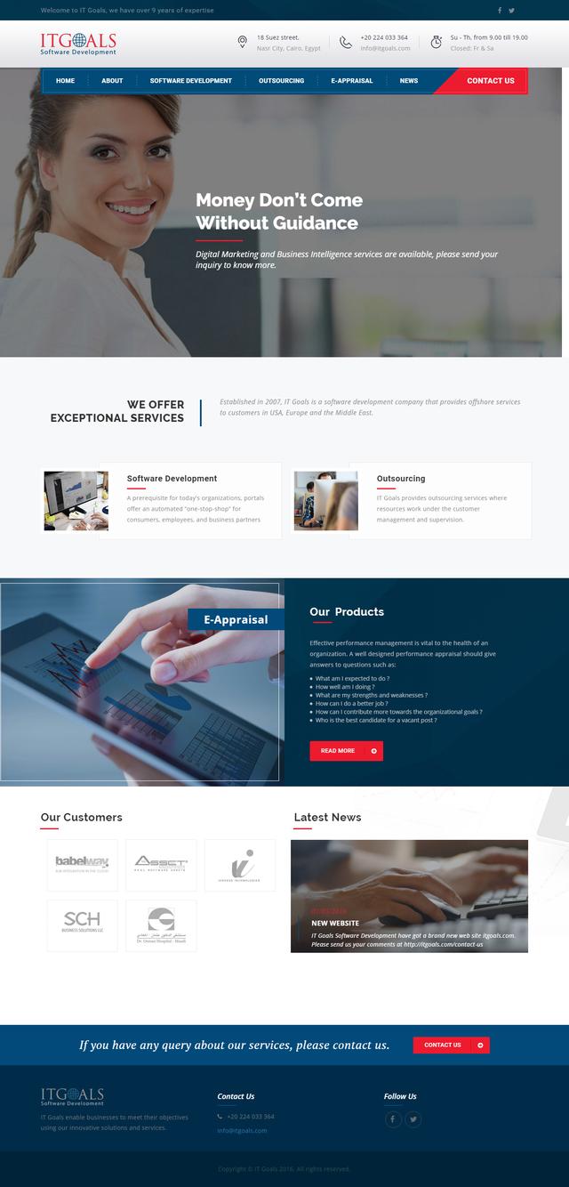 IT Goals Software Development website - Innovix Solutions