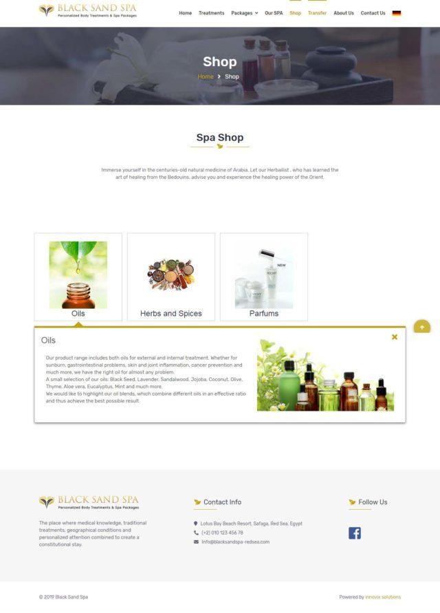 Black Sand SPA - Innovix Solutions